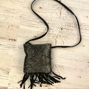 Fossil  small cross body purse with fringe